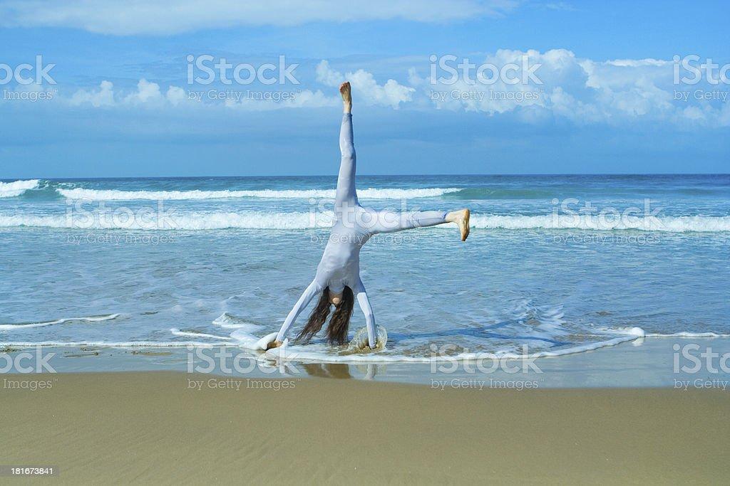 girl in blue body royalty-free stock photo