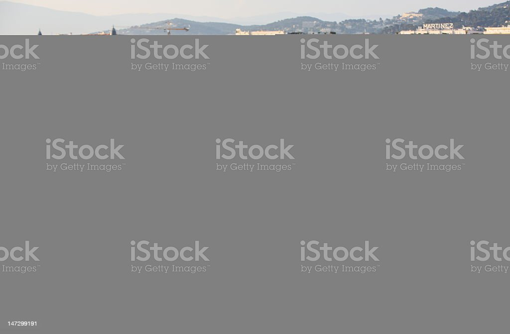 Girl in Cannes, France royalty-free stock photo