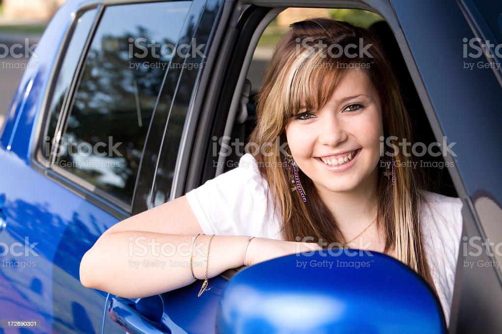 Girl in Car royalty-free stock photo