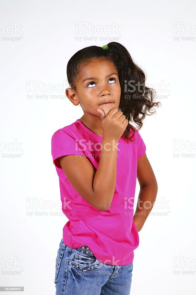 Girl In Deep Thought stock photo