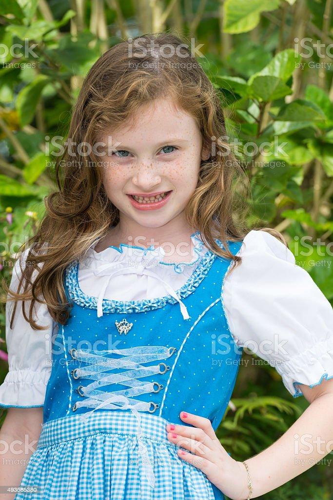 Girl in Dirndl stock photo