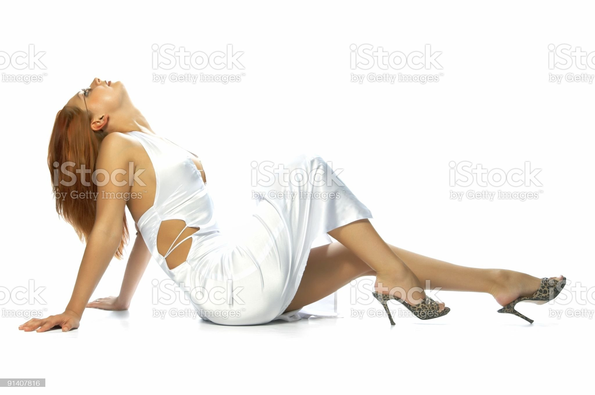 girl in evening dress royalty-free stock photo