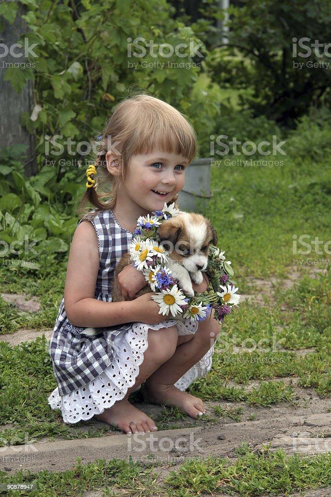 girl in farm stock photo