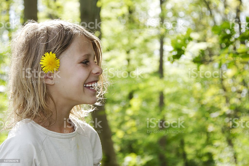 girl in forest royalty-free stock photo