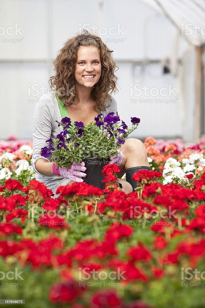 Girl in Gardens royalty-free stock photo