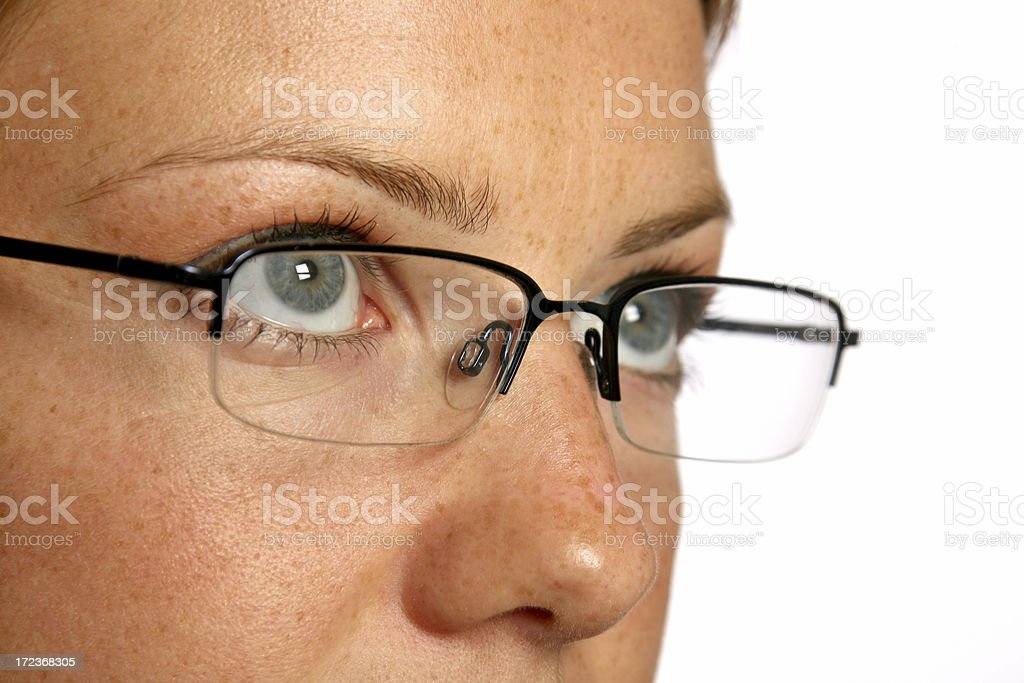 girl in glasses royalty-free stock photo