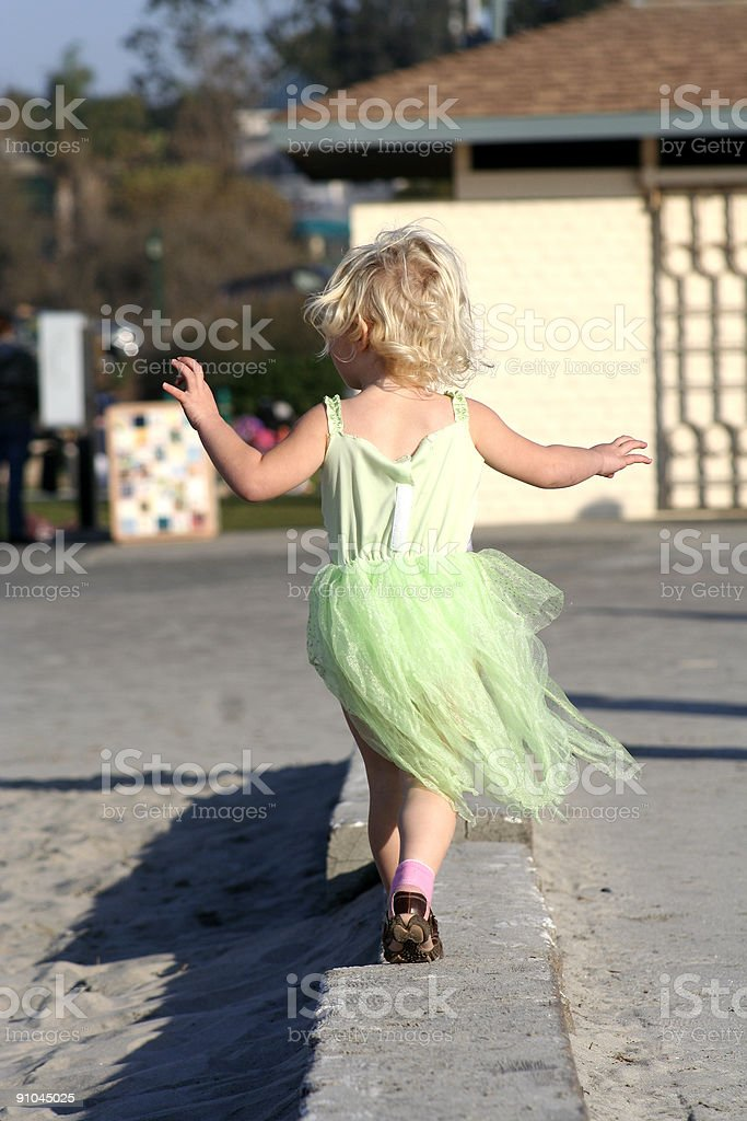 girl in green dress royalty-free stock photo