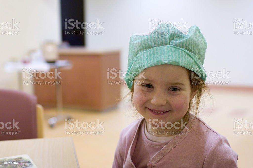 girl in hospital royalty-free stock photo