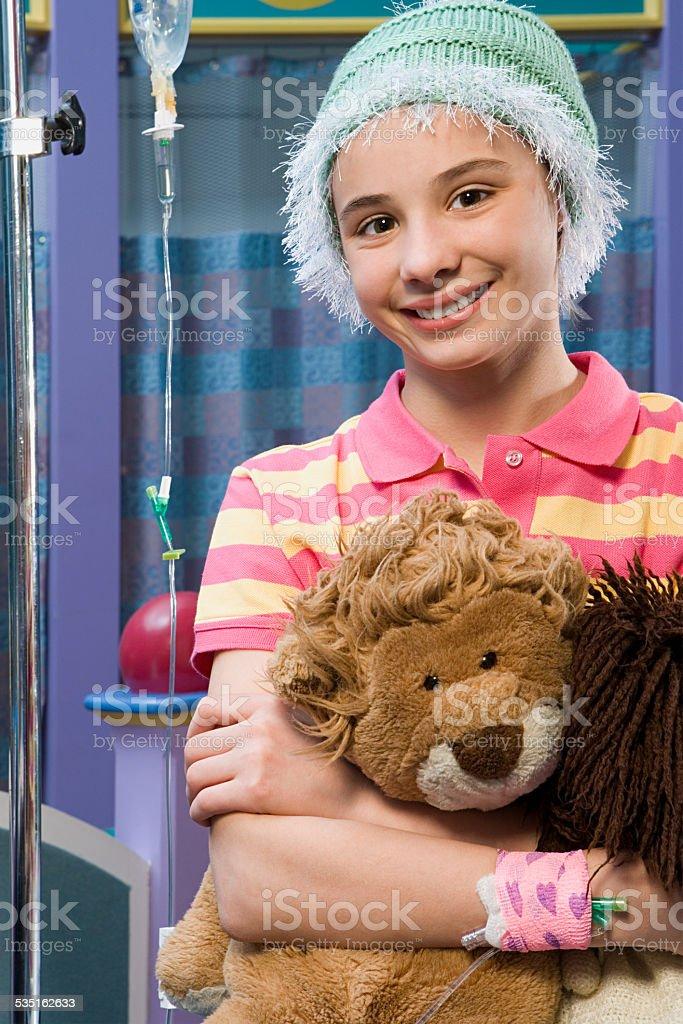 Girl in hospital stock photo