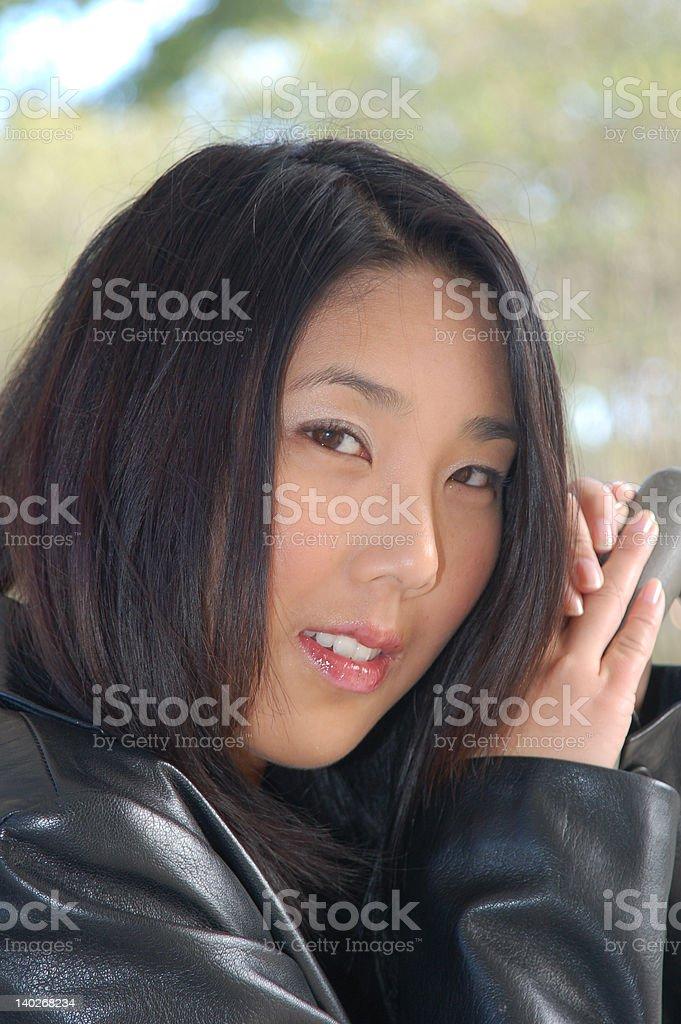 Chica de la chaqueta de vestir foto de stock libre de derechos