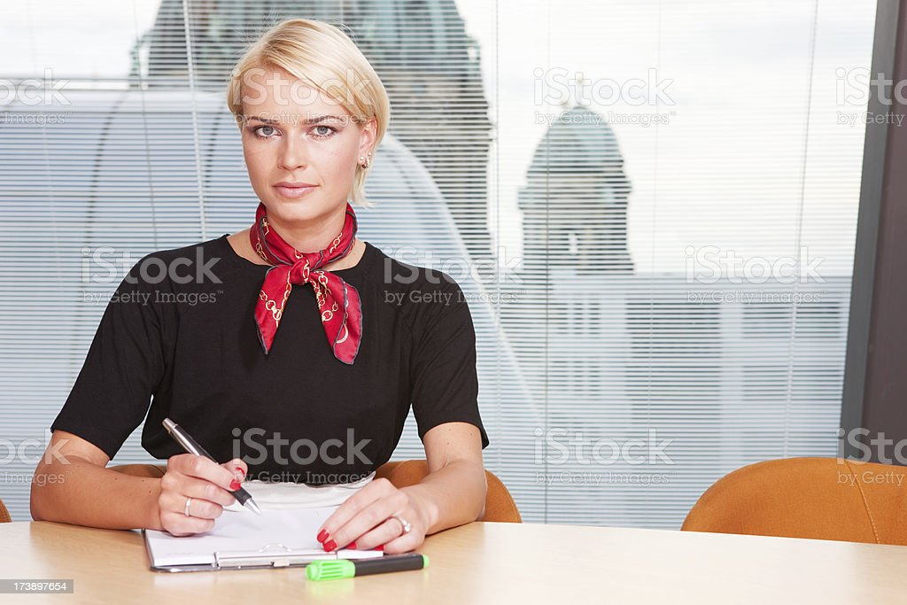 Girl in office royalty-free stock photo