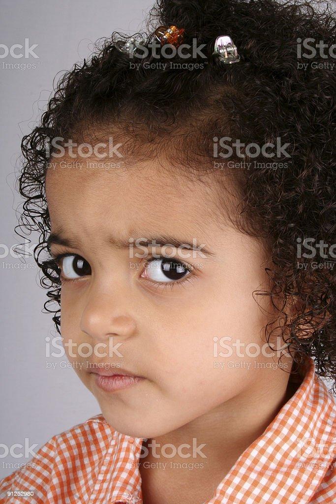 Girl in Orange Shirt royalty-free stock photo