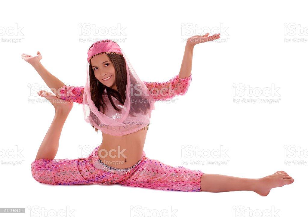 Girl in Oriental Costume stock photo