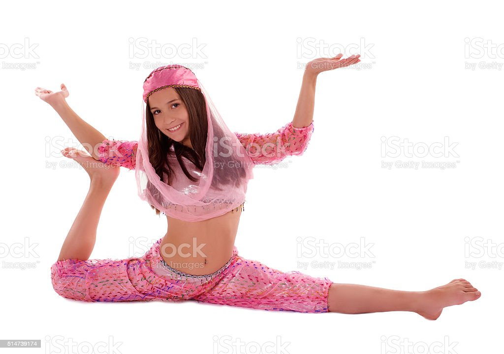 Girl in Oriental Costume stock photo