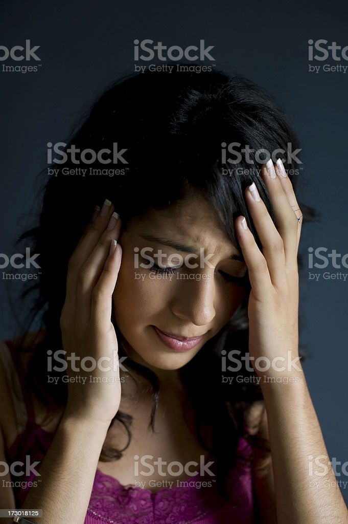 Girl in pain royalty-free stock photo