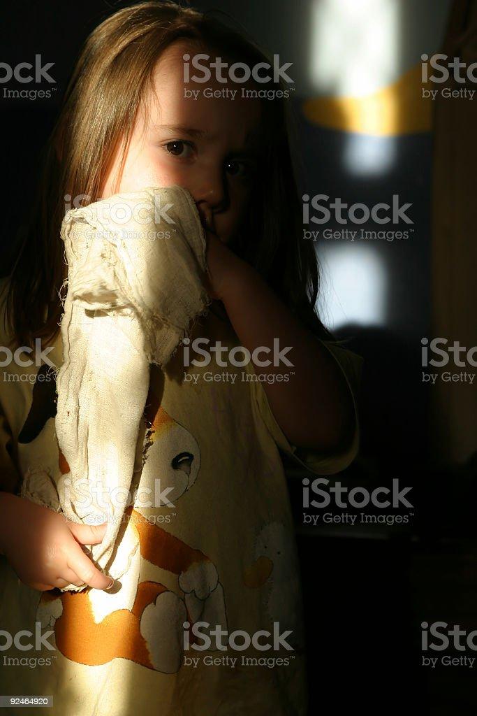 Girl in pajamas royalty-free stock photo