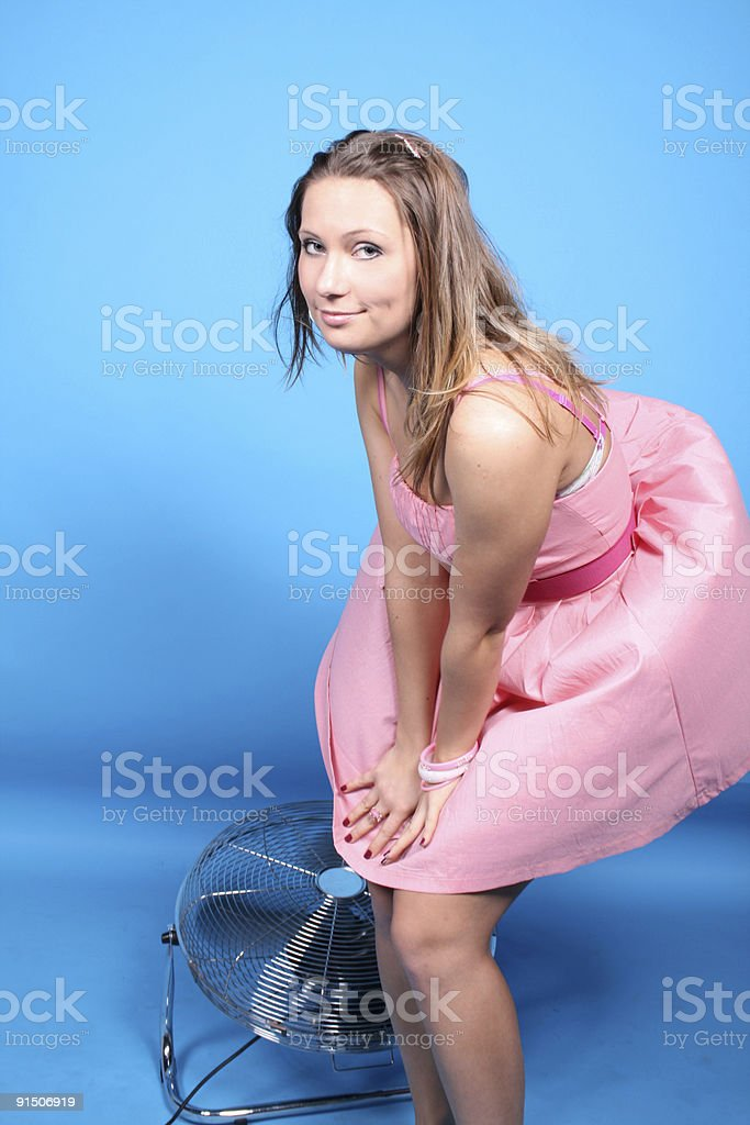 Girl in pink dress royalty-free stock photo