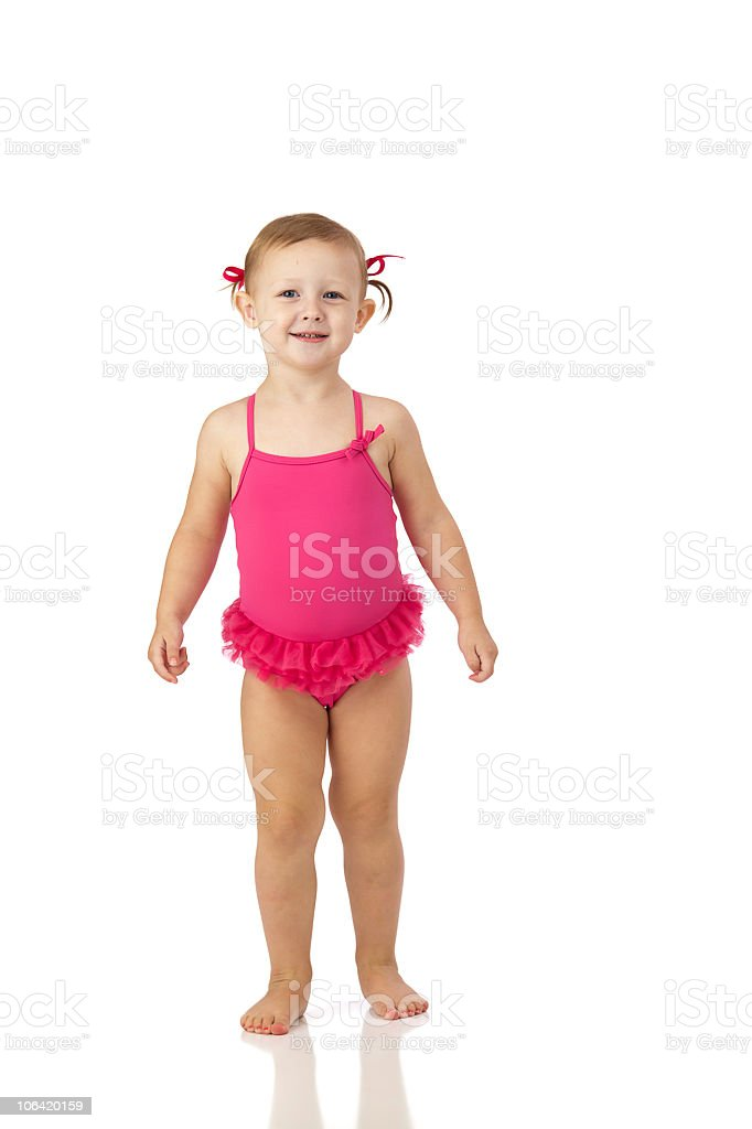 Girl in Pink Swim Suit royalty-free stock photo