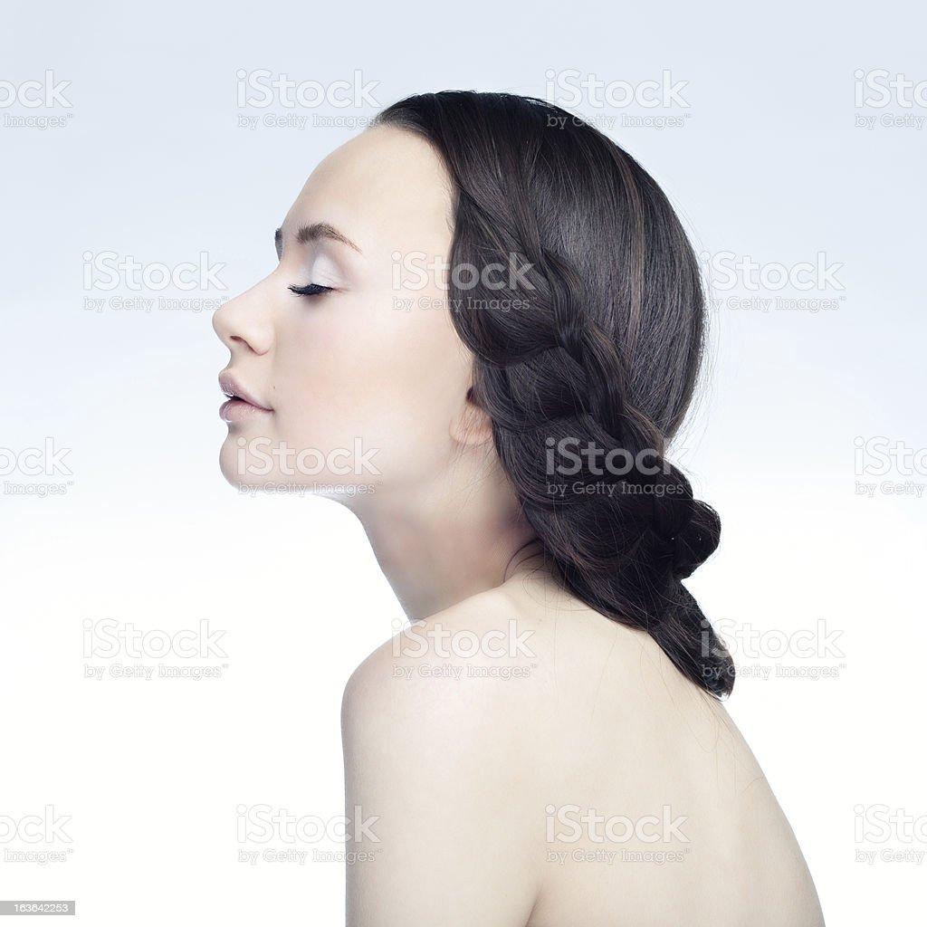 Girl in Profile royalty-free stock photo
