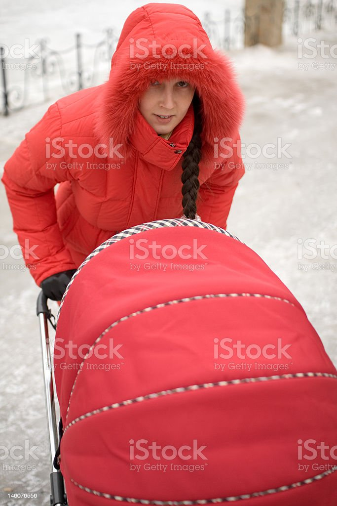 Girl in Red Hood royalty-free stock photo