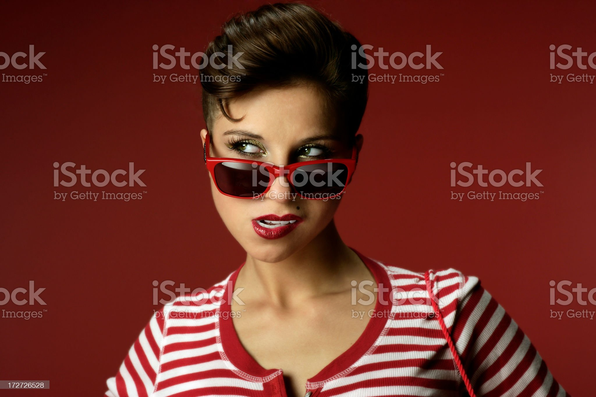 Girl in Red royalty-free stock photo