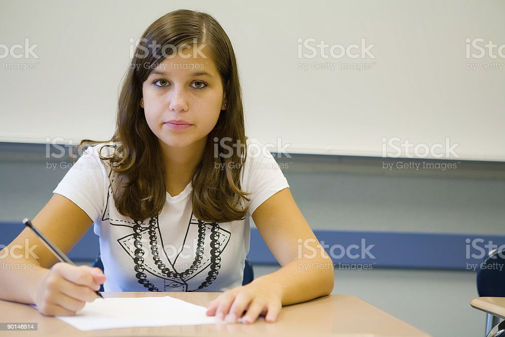 Girl in School royalty-free stock photo