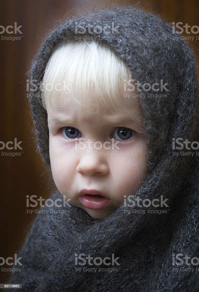 girl in shawl royalty-free stock photo