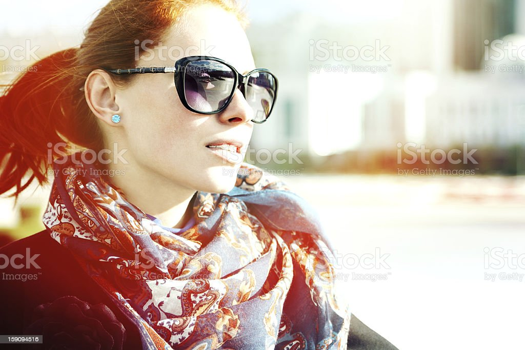 Girl In Sunglasses royalty-free stock photo