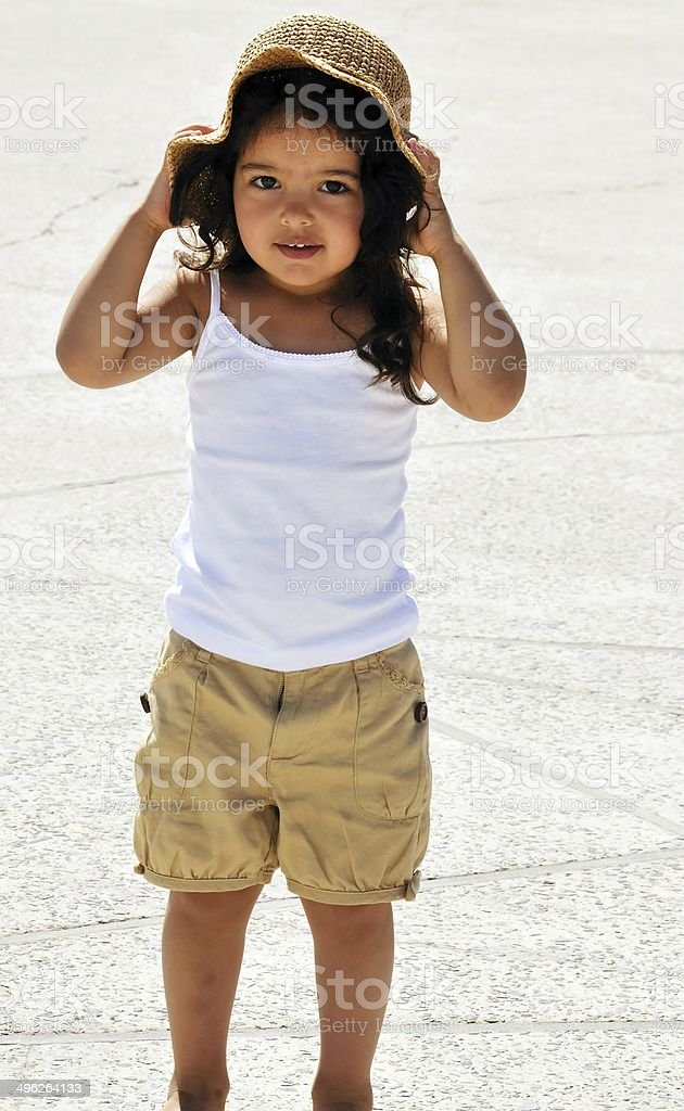 Girl In Sunhat royalty-free stock photo