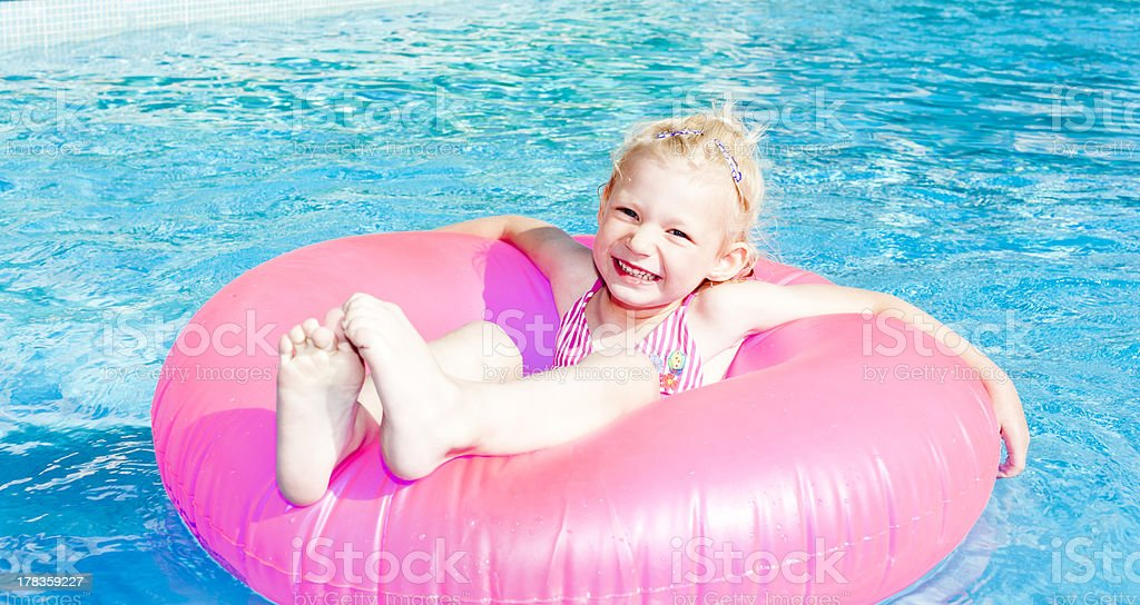 girl in swimming pool royalty-free stock photo