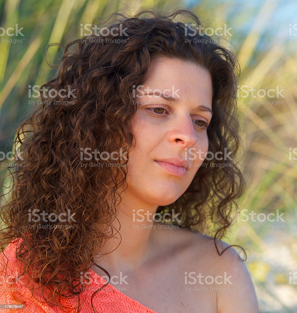 Girl in the beach royalty-free stock photo