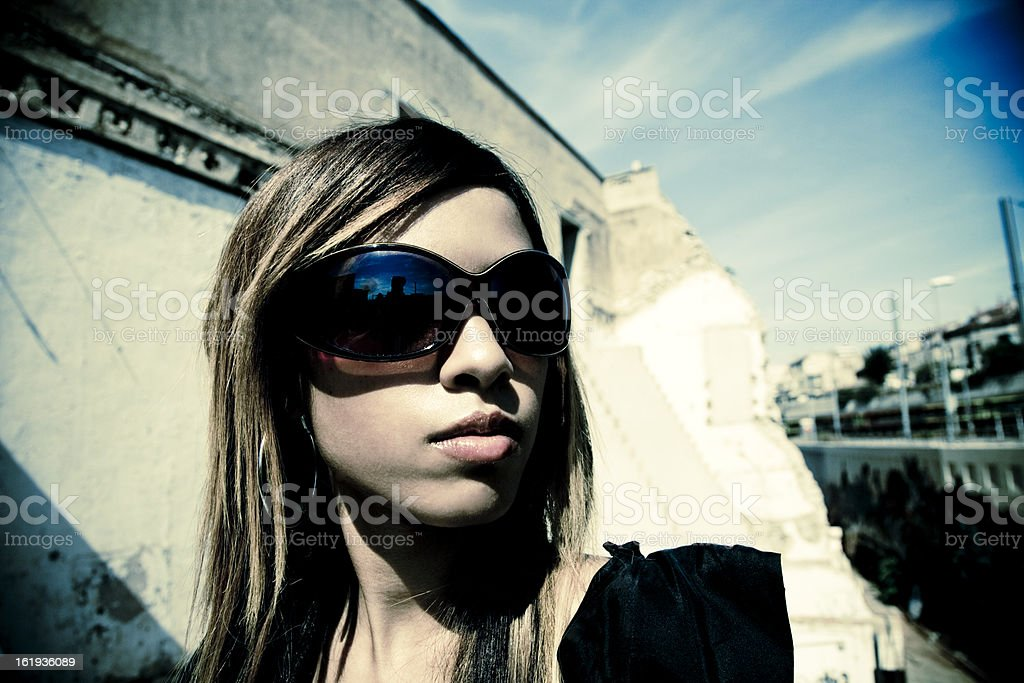 girl in the city sun royalty-free stock photo
