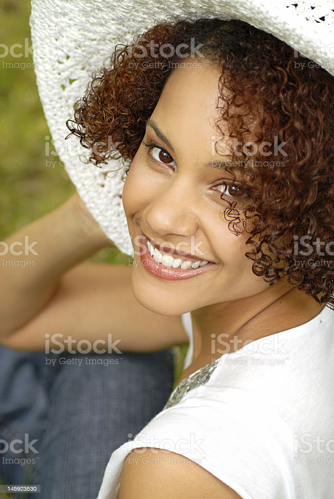 Girl in the country royalty-free stock photo