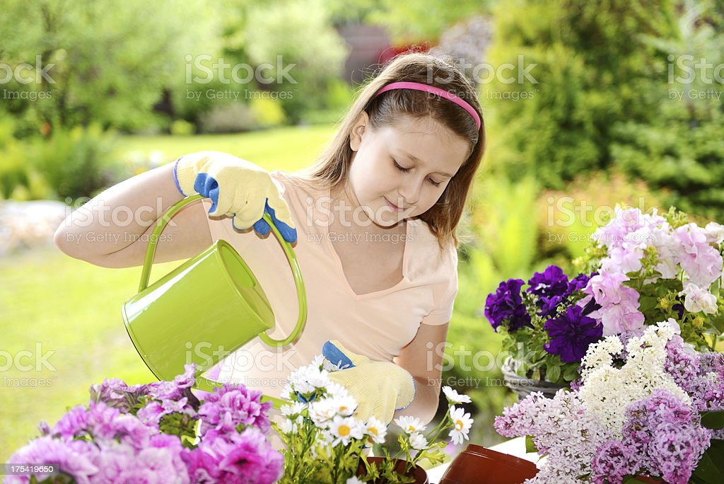 Girl in the Garden royalty-free stock photo