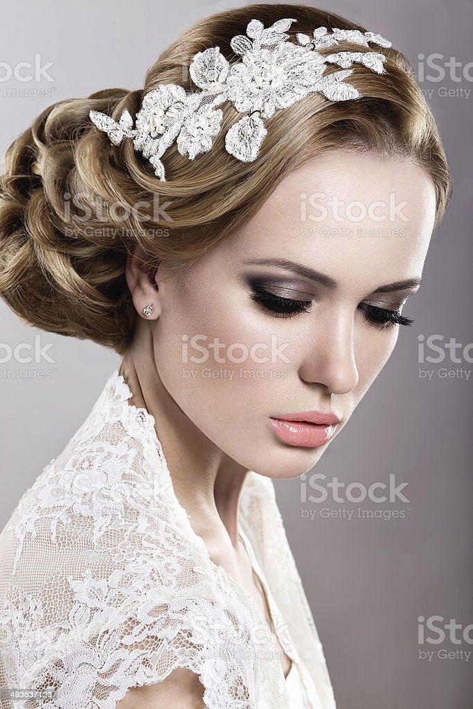 Girl in the image of the bride stock photo
