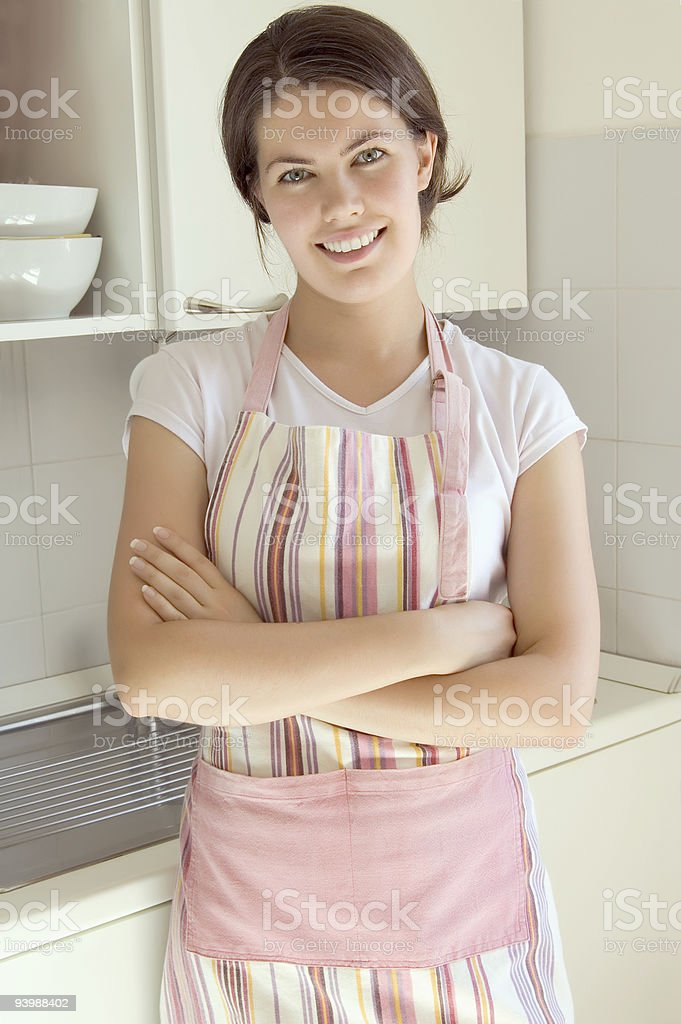 girl in the kitchen royalty-free stock photo