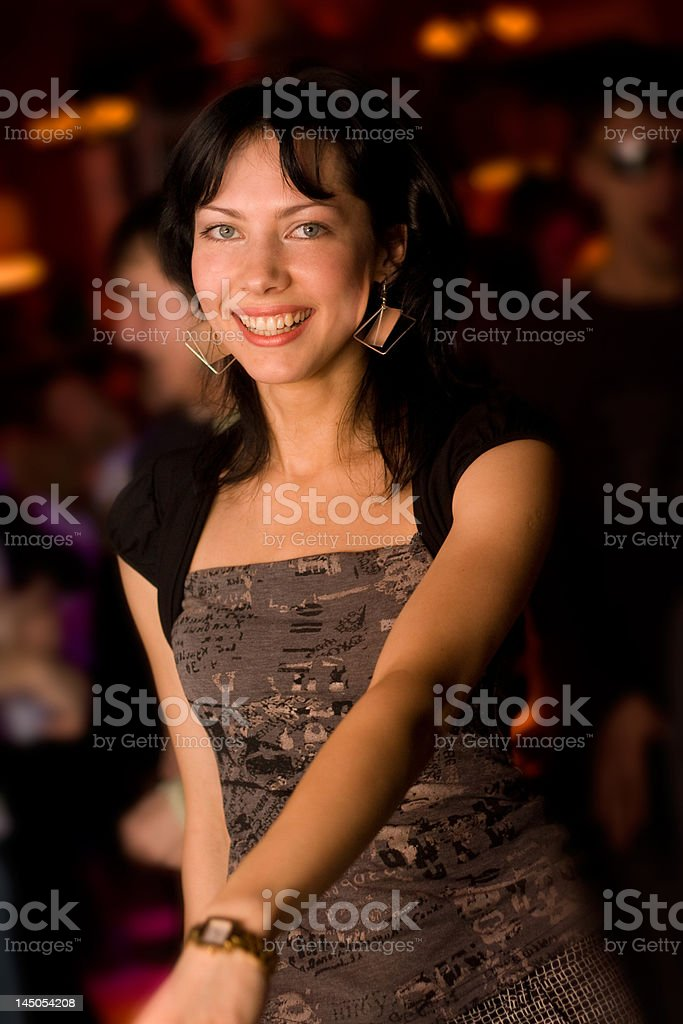 Girl in the night club royalty-free stock photo