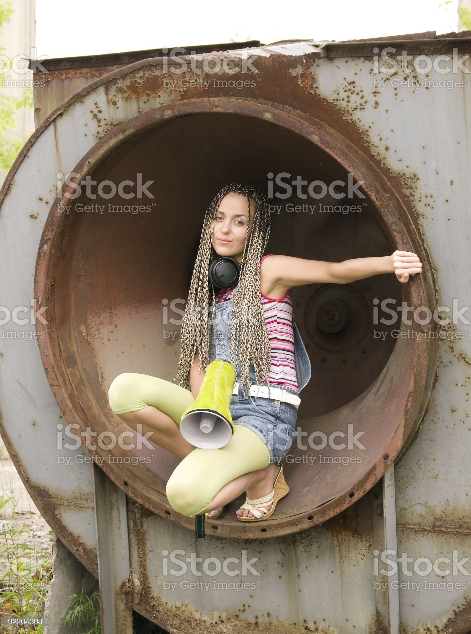 girl in the ring royalty-free stock photo
