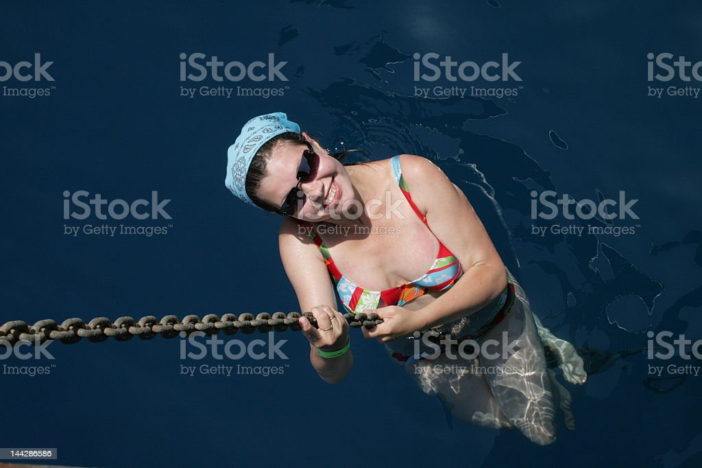 girl in the sea royalty-free stock photo