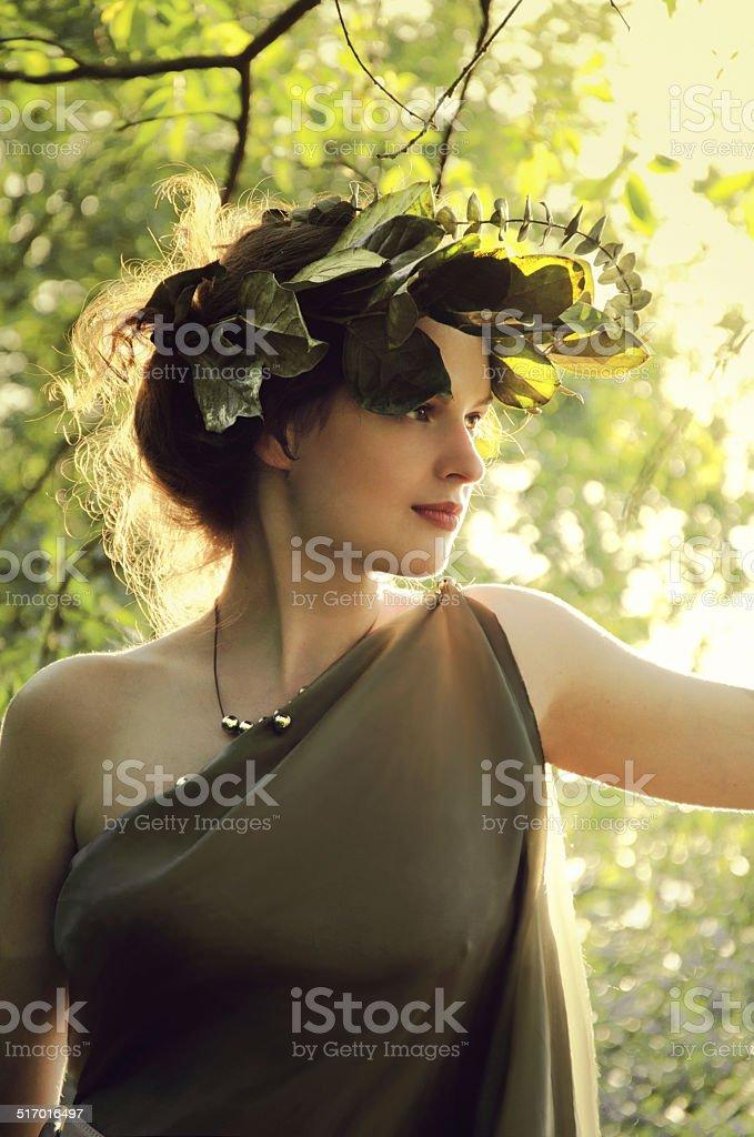 girl in the sunlight stock photo