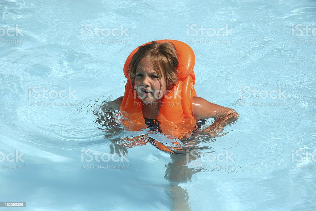 Girl in the Swimming Pool royalty-free stock photo