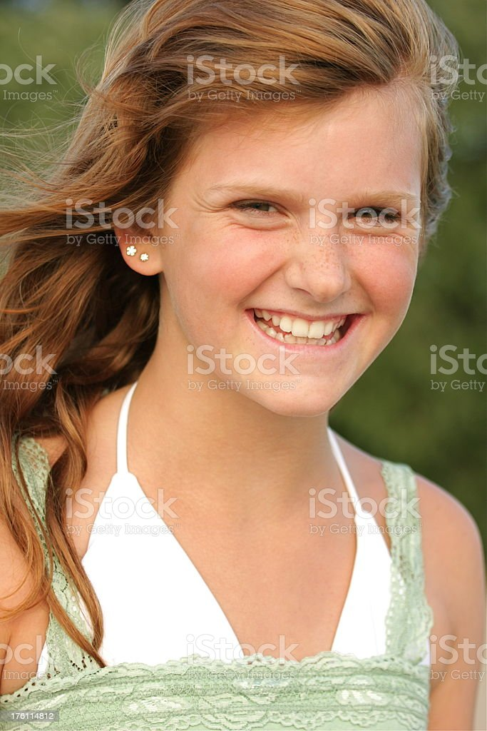 Girl in the Wind royalty-free stock photo