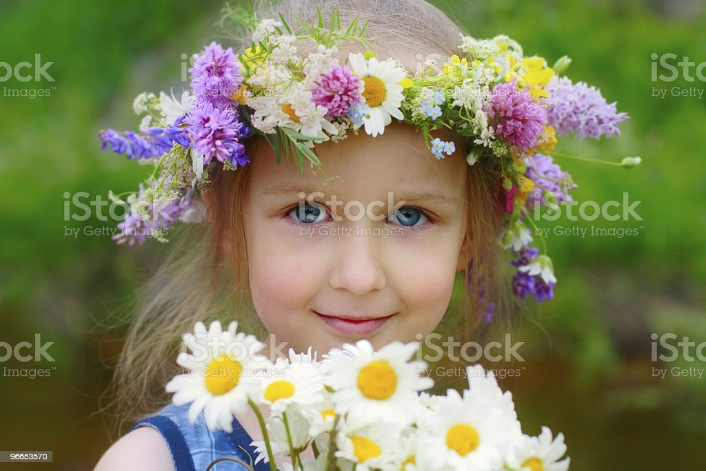 girl in the wreath royalty-free stock photo
