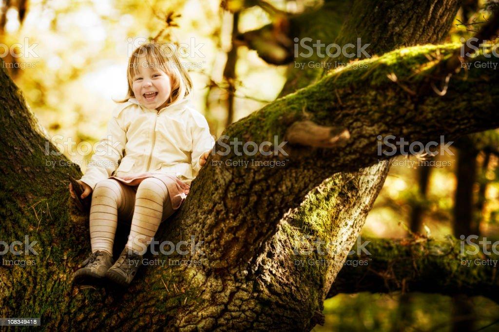 Girl in Tree royalty-free stock photo
