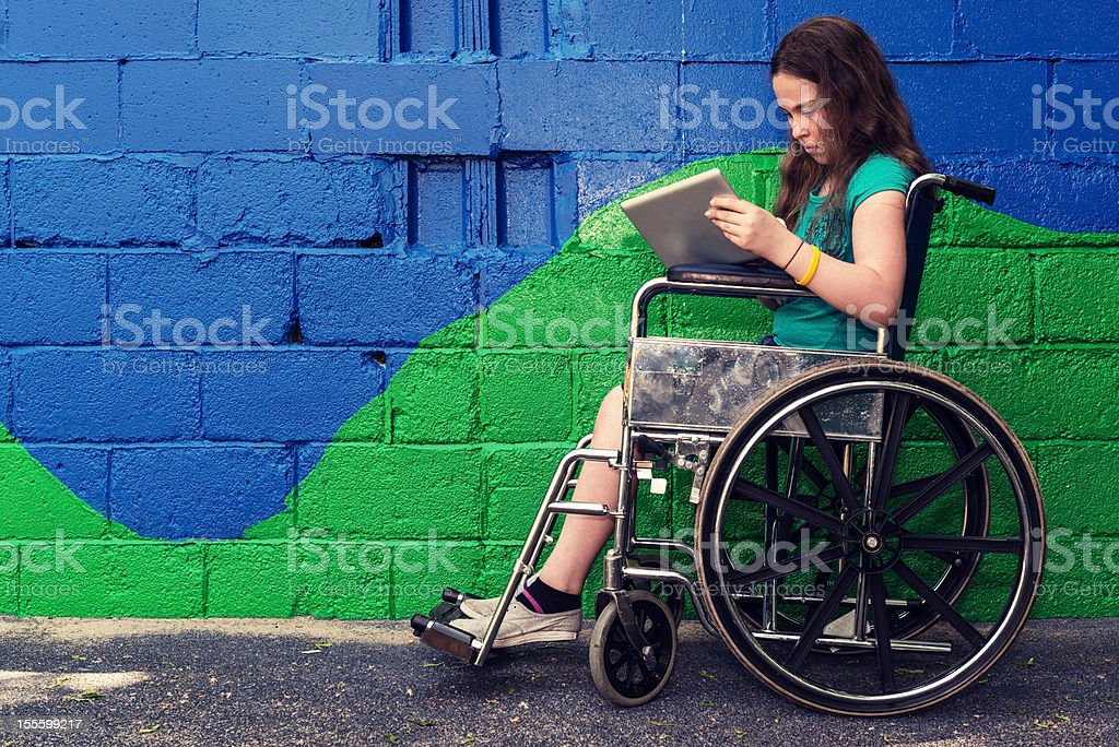 Girl in Wheelchair royalty-free stock photo