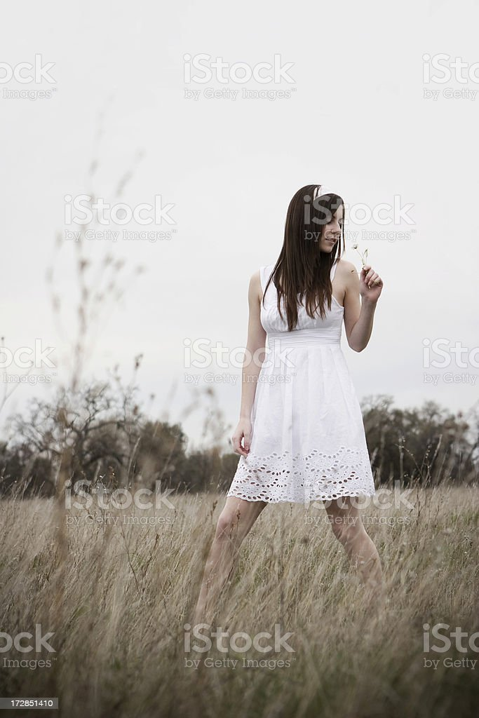 Girl in White Dress royalty-free stock photo