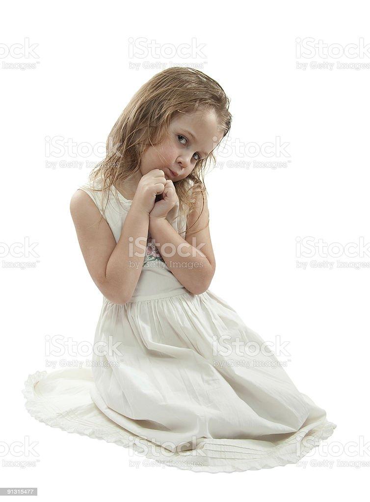Girl in white royalty-free stock photo