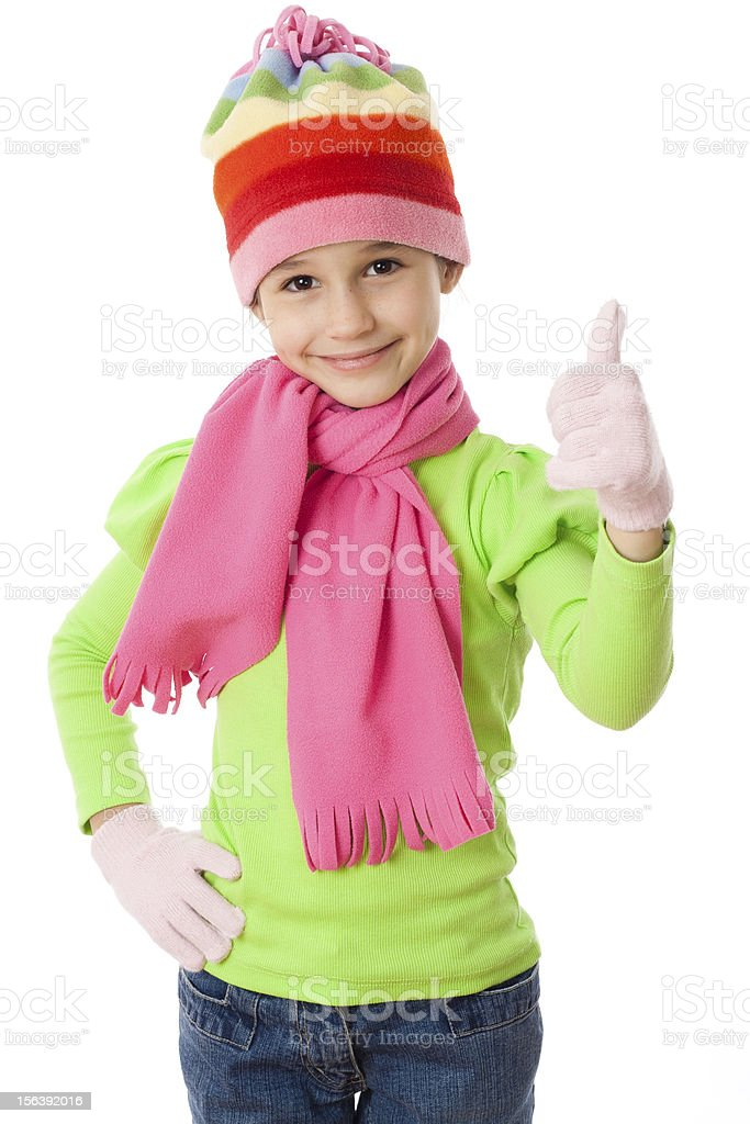 Girl in winter clothes royalty-free stock photo