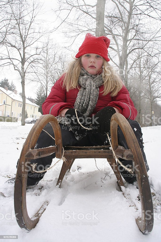 Girl in winter royalty-free stock photo