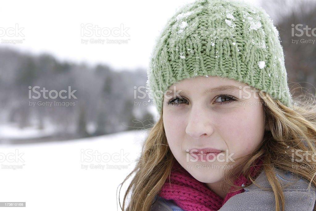 Girl in Winter Wonderland royalty-free stock photo
